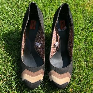 Missoni for Target Black Chevron Suede Pumps Sz 10